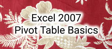 pivot tables moore solutions inc