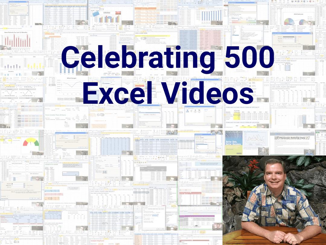 500 Excel Videos